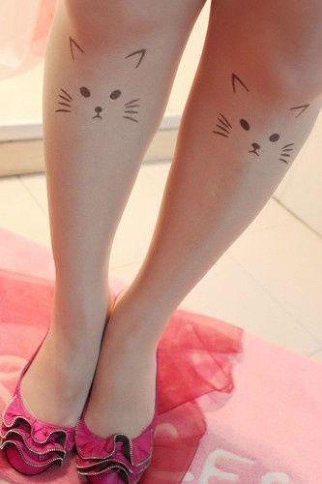 Легкие рисунки на ногах ручкой