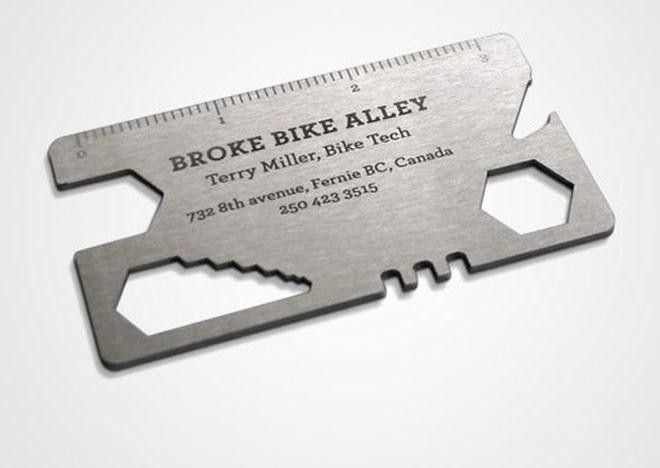 The 30 most brilliant business cards ever made bike mechanic business card colourmoves