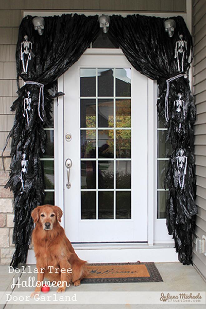 Scary Trash Bag Halloween Decorations