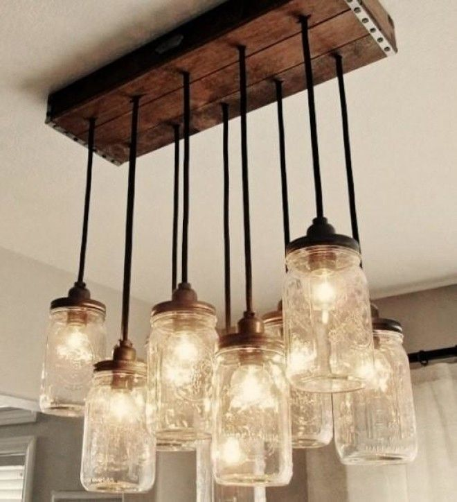 Fantastic Creative DIY Chandelier Home Ideas - Ceiling lamp made by chemistry test tubes
