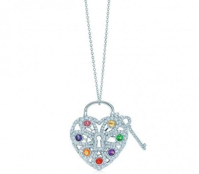 23 bits of love inspired bling fit for valentines day tiffany filigree heart pendant with key price 8600 at tiffany set with dozens of tiny round cut diamonds and a rainbow of pink tourmaline iolite aloadofball Images