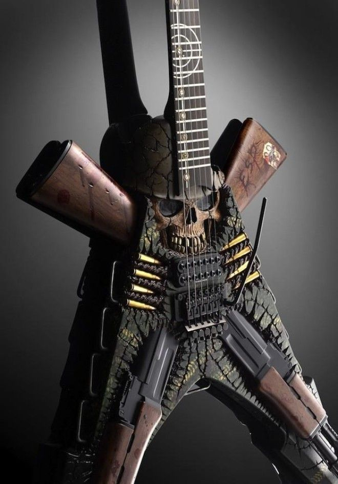 12 Of The Scariest Eeriest Or Just Plain Weird Custom Guitars