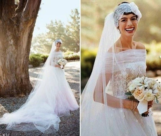 Anne Hathaway Gown: 31 Most Stunning Celebrity Wedding Dresses Of All Time