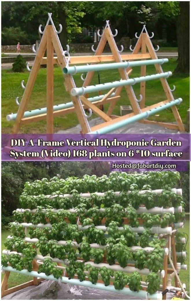 Diy A Frame Vertical Hydroponic Garden System