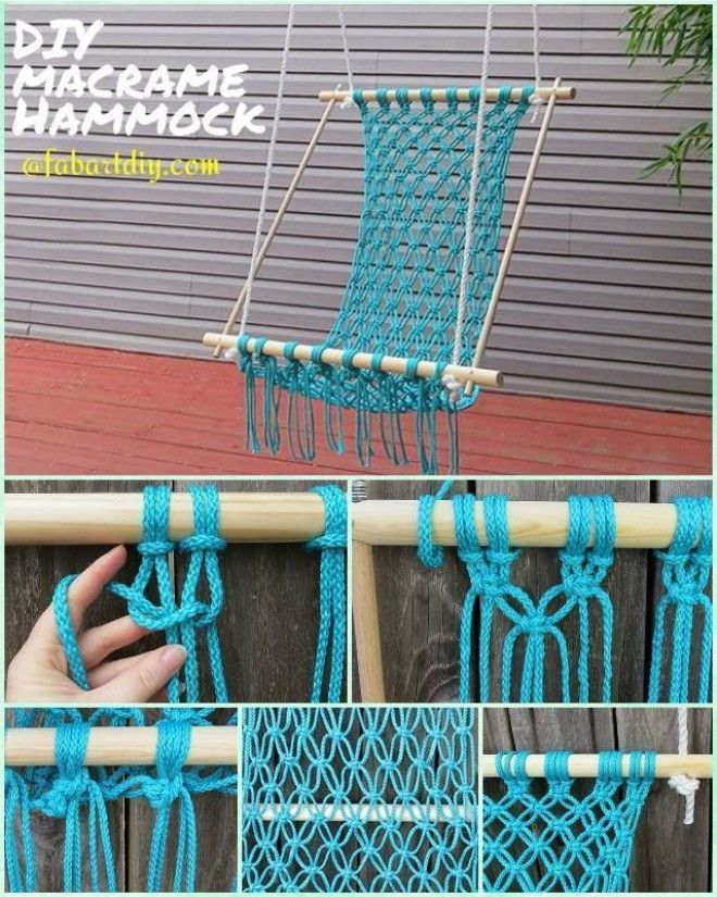 Easy diy fabric hammocks to enjoy in summer for Macrame hammock chair pattern