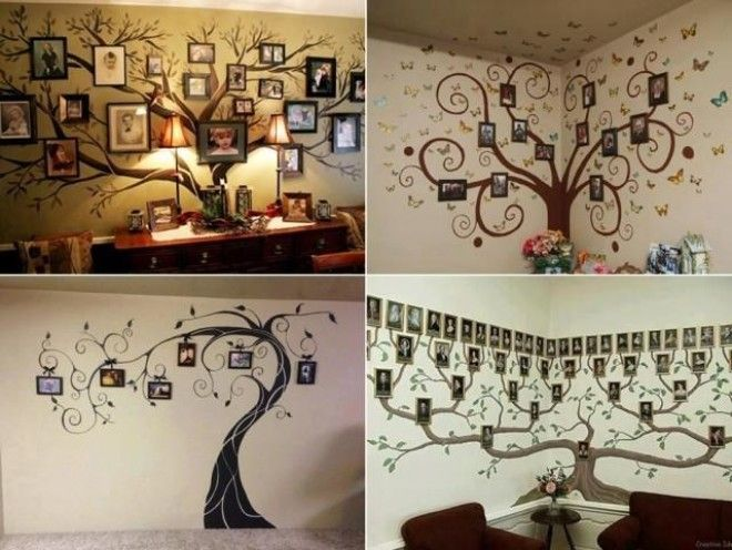 Low budget diy home decoration projects on weekends for Diy family tree wall mural
