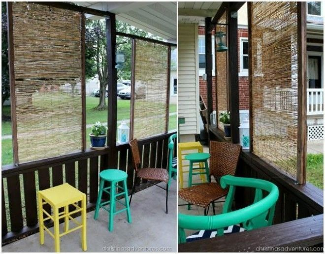 10 diy patio privacy screen projects free plan for Balcony privacy solutions