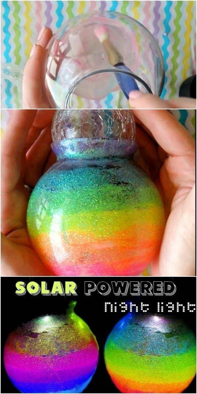 DIY Solar Powered Rainbow Night Light