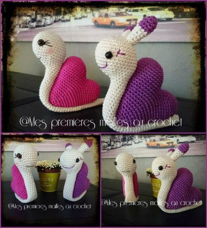 free patern More | Crochet snail, Crochet, Crochet projects | 726x660