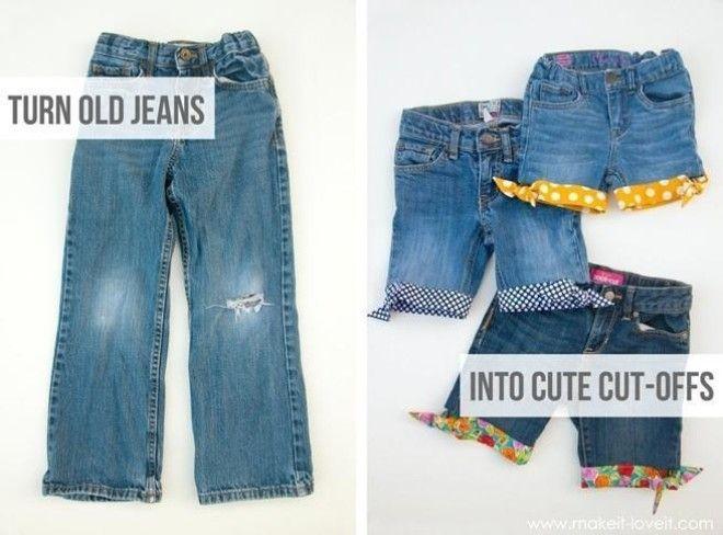 3136ff44e28e2 Refashion Hack-Turn Worn Jeans into DIY Cut Off Jean Shorts