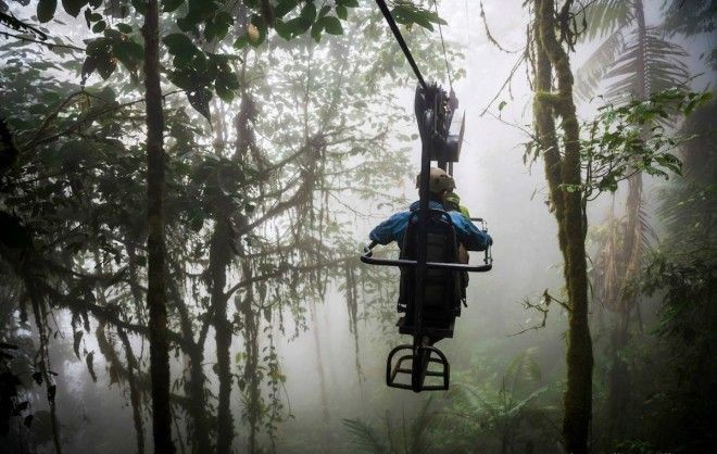 Cycle through the air in the cloud forests of Ecuador