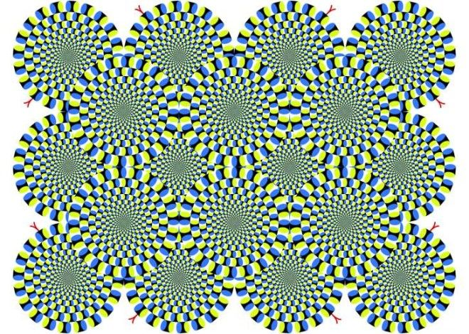"""The Rotating Snakes Illusion"" by Akiyoshi Kitaoka"