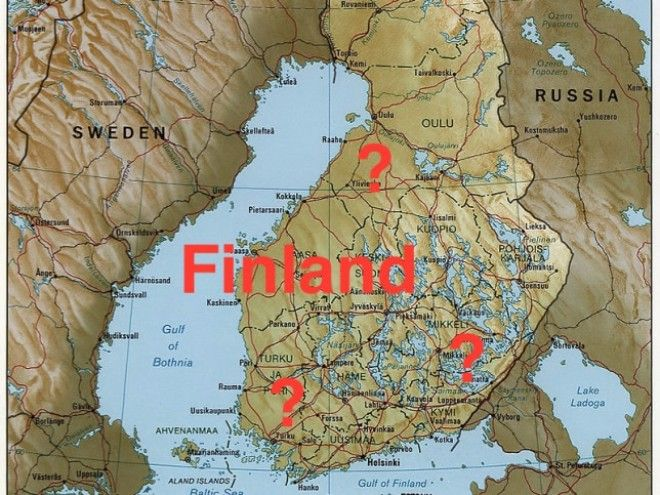 3. Finland doesn't exist either.