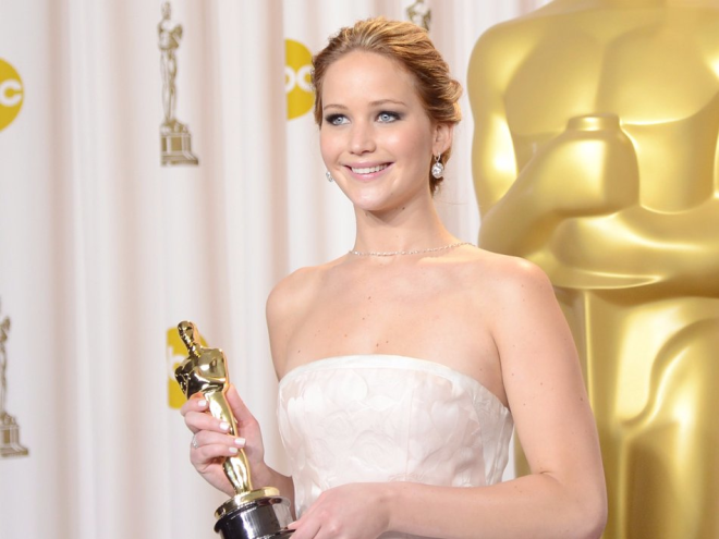 Actress Jennifer Lawrence was an Oscar-winner raking in millions.