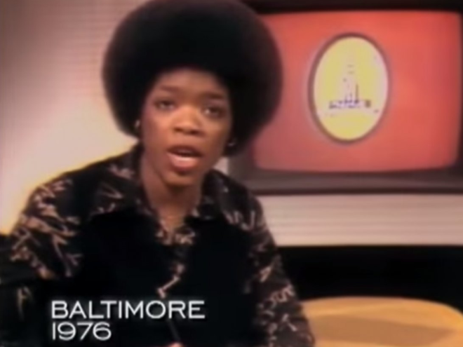 America's first lady of talk shows Oprah Winfrey was co-hosting a local talk show in Baltimore.
