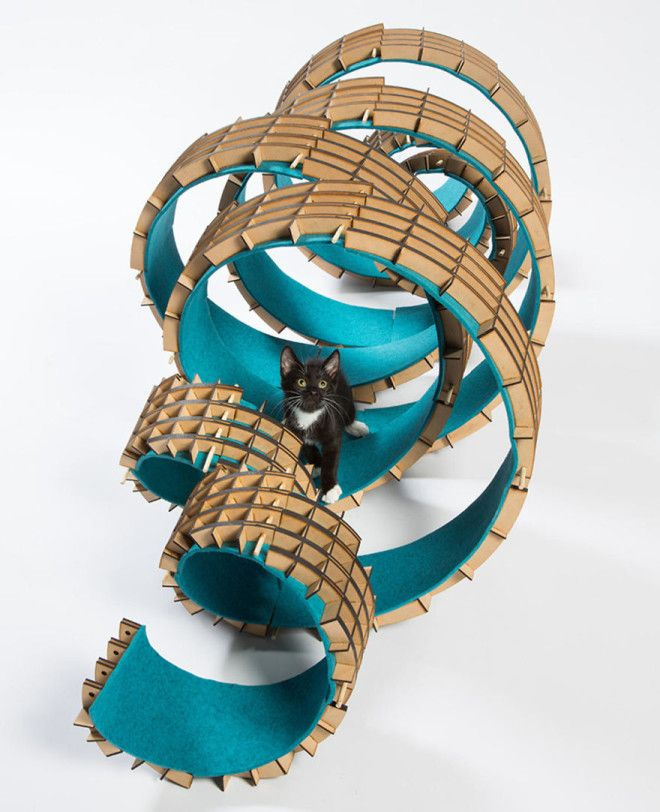 PerkinsWills UnFURled A Spiral Shelter Assembled From A Kit Of Interchangeable Parts