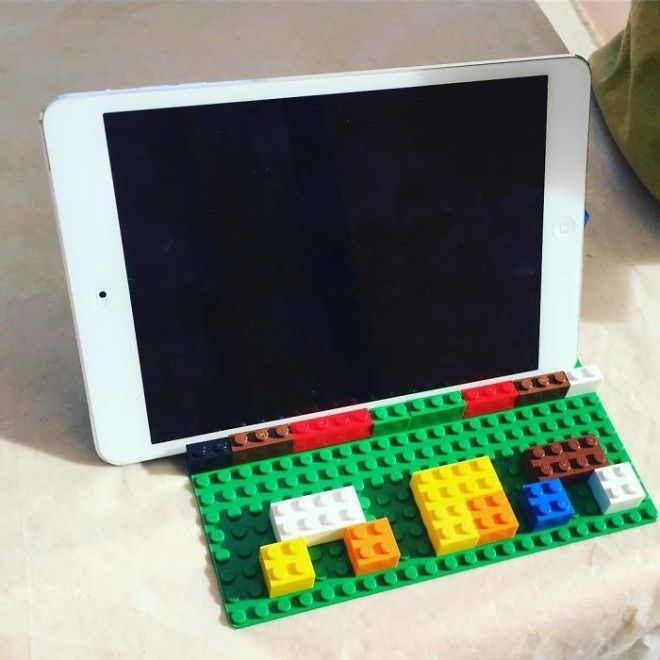 I Asked For An iPad Holder For The Kitchen And Got A Lego One With Mom On It