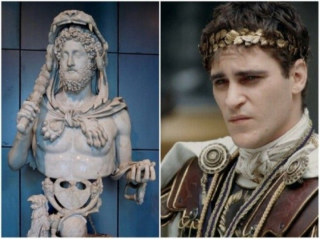 Emperor Commodus in movie Gladiator