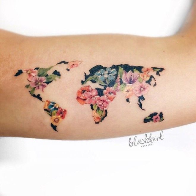 40 wanderlust tattoo designs for anyone obsessed with travel 1 voltagebd Image collections