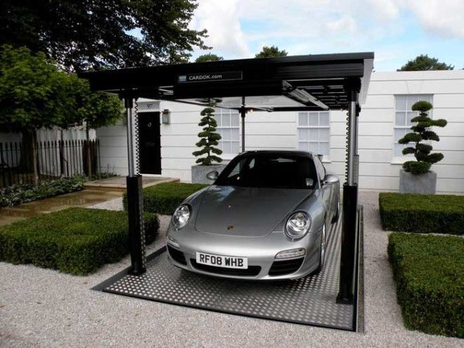 Home Garage Car Lift >> Awesome Underground Home Parking Solutions With Car Lift