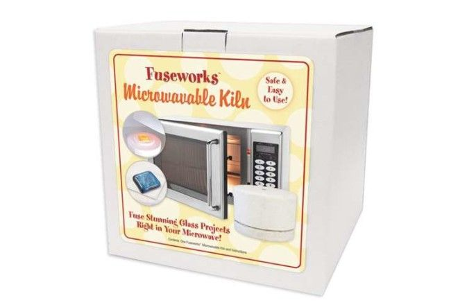 A Fuseworks microwavable kiln in a box