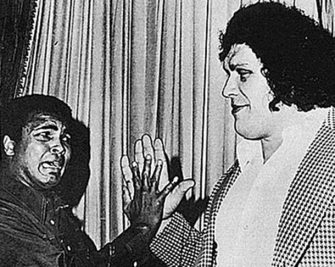 Andre The Giant And Muhammad Ali