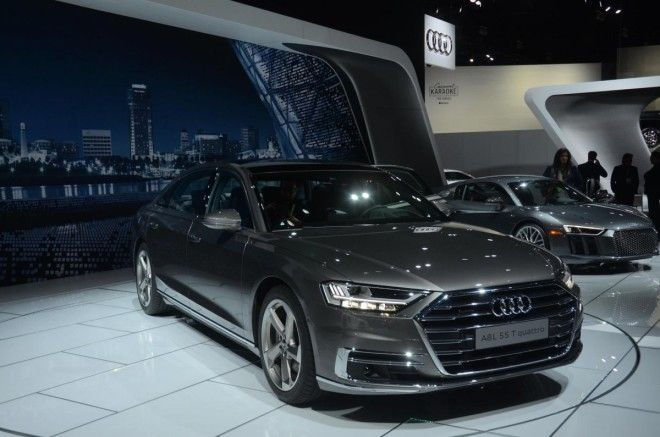 Audi is showing off their new flagship A8 luxury sedan.