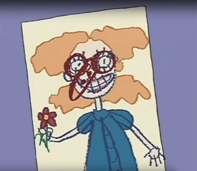 Angelica From Rugrats Draw A Very Suss Looking Eye And Nose On Her Classmates Drawing