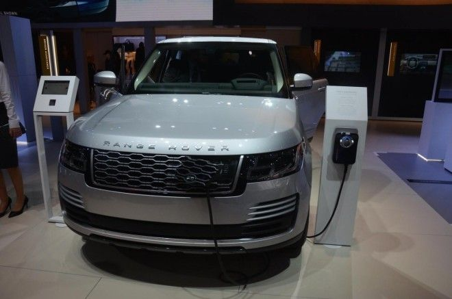 Its sister brand, Land Rover, has a host of offerings on display, including a new plug-in hybrid Range Rover.