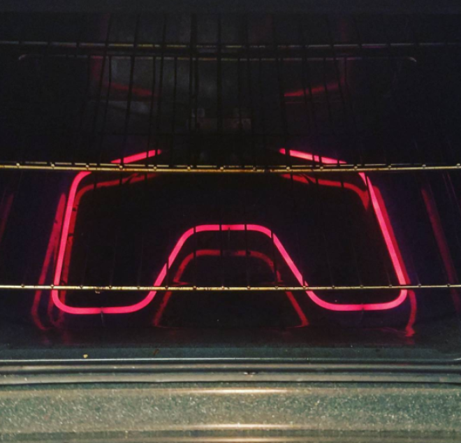 Side note: Definitely do NOT use your oven as an actual heater.