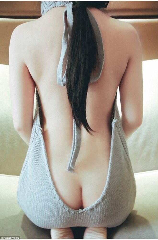 Japanese Company Launches Skimpy Backless Sweaters With Cleavage