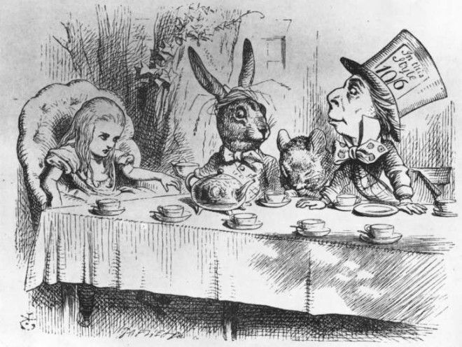 An illustration from 'Alice's Adventures in Wonderland'