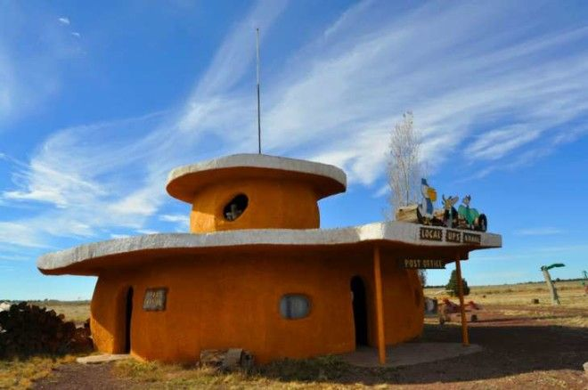A Flintstones theme park house