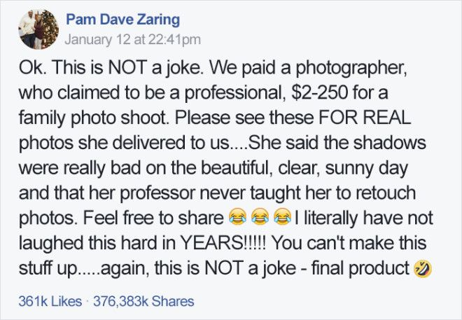 Family Hires Professional Photographer For 250 To Take Their Portraits
