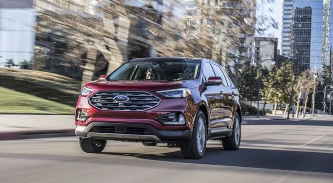 A refreshed Ford Edge is also on display The Edge is one of Fords bestselling crossovers