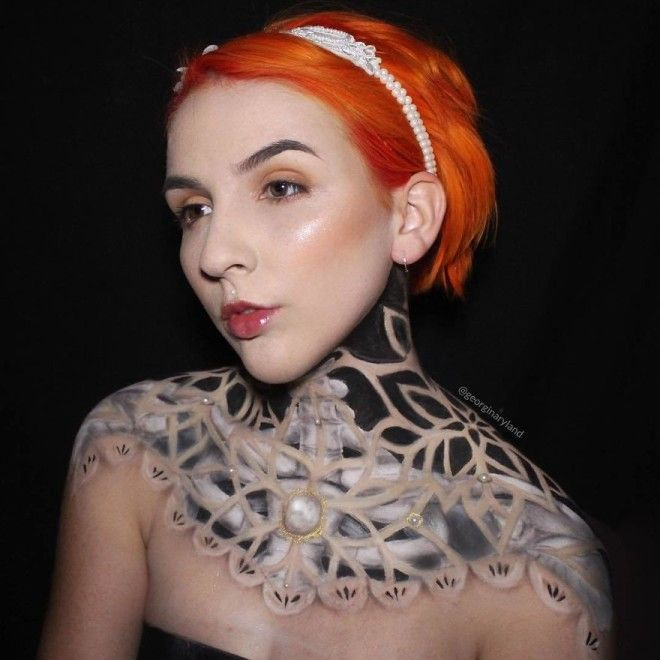 Makeup Artist Georgina Ryland Is Using Her Body As A Canvas On Instagram Creating True Masterpieces