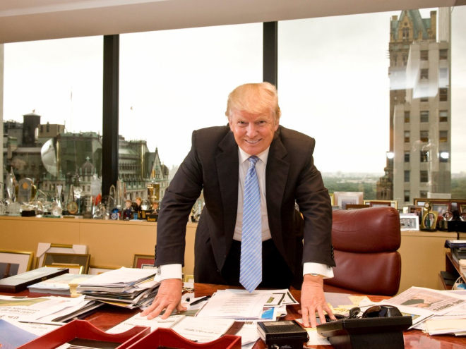 But the president's desk is now barer than it was in his former spot in Trump Tower. That desk was piled high with papers and flanked by a row of trophies, photos, and bobblehead dolls on the windowsill.