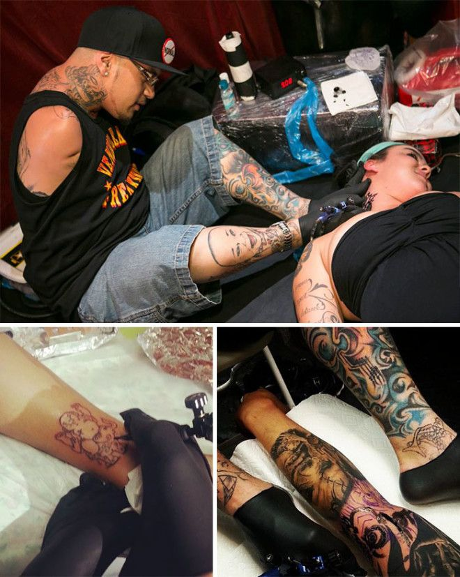 Brian Tagalog Was Born Without Arms, But He Has Never Let This Serious Adversity Keep Him From Leading A Normal Life. He Believes He Is The Only Certified Tattoo Artist Without Arms In The World