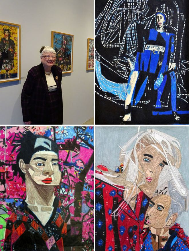 Helen Rae Is A 77 Year Old Deaf And Completely Non Verbal Artist. In 1990, When She Was 50 Years Old, Her Mother Enrolled Her At First Street Gallery, A Local Program For Adults With Disabilities, Where She Developed Her Drawing Skills