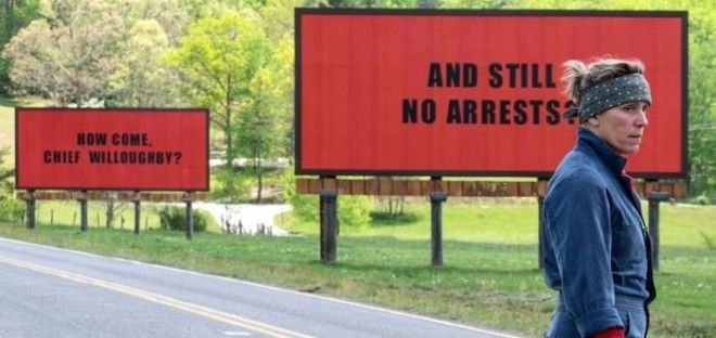 Winner: Three Billboards Outside Ebbing, MissouriThe Big SickGet OutLady BirdMudbound