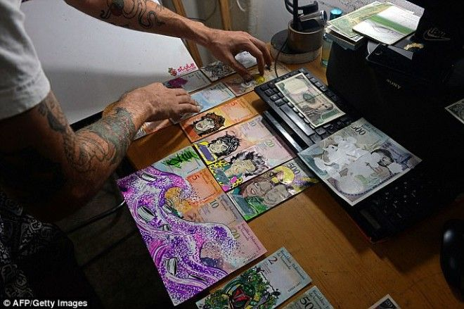 Foreign customers pay him up to £14 ($20) for each piece of 'money art', which he said increases the note's value by nearly 5,000 per cent.
