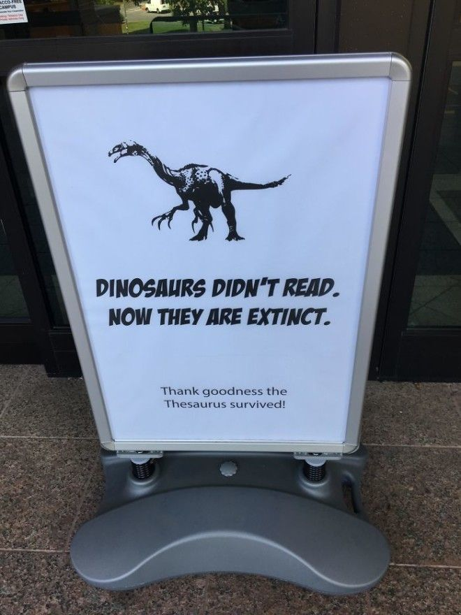 This Was At My College Library Entrance