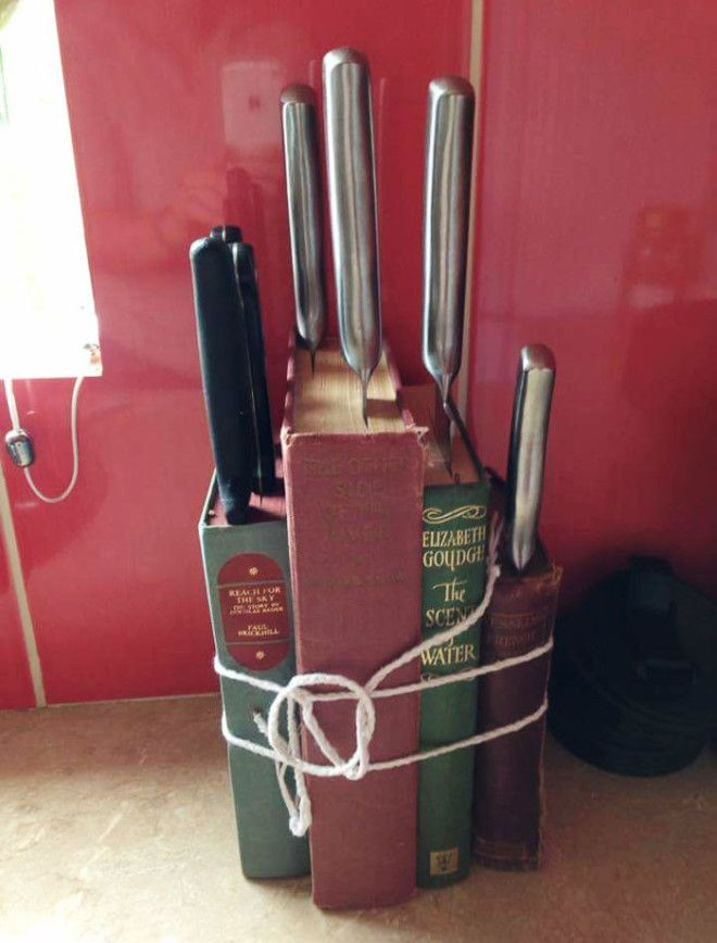 Upcycled Knife Block
