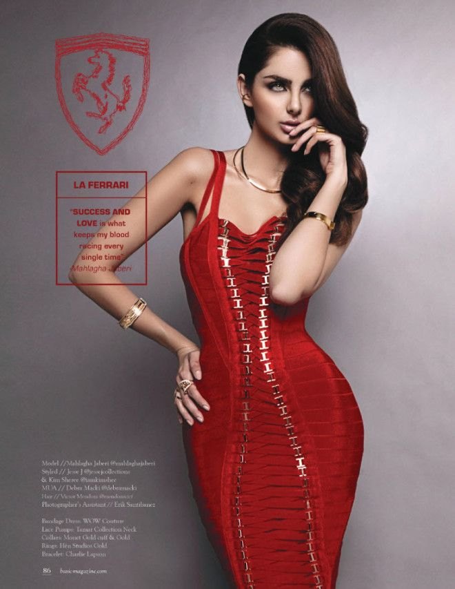 La Ferrari by Mahglagha Jaberi – is the luxurious, sexy brunette