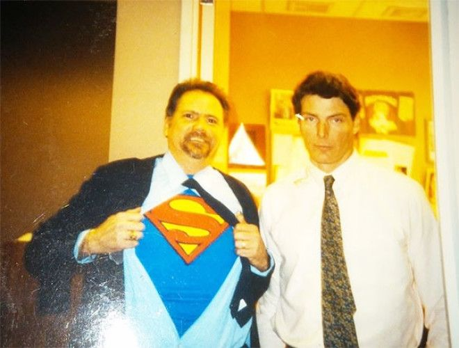 Many Years Ago My Dad Got To Meet Christopher Reeves The Man Of Steel Did Not Appreciate His Shenanigans
