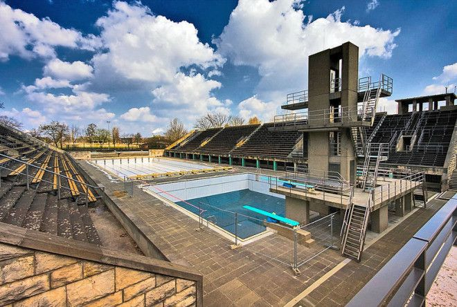 The swimming venue of the 1936 Summer Olympics in Berlin