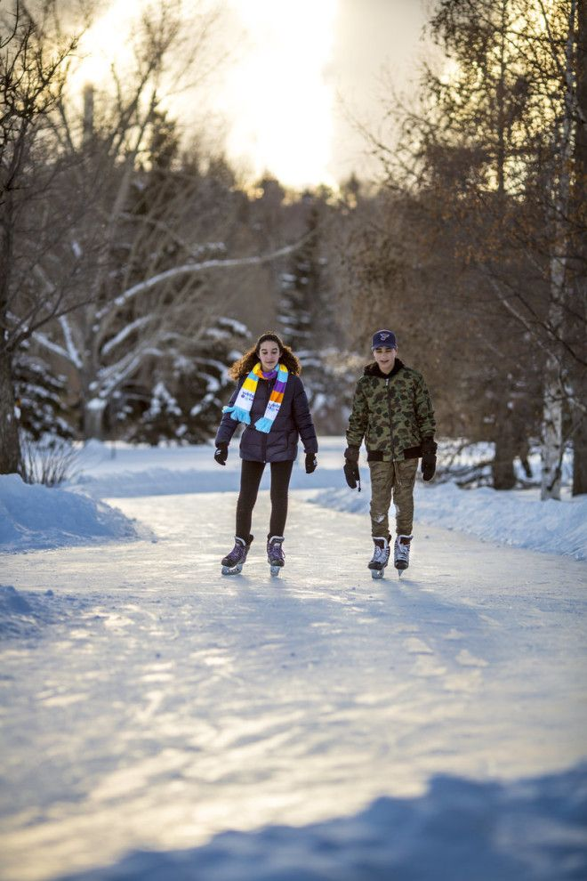Edmontonians can skate along multiple kilometers.