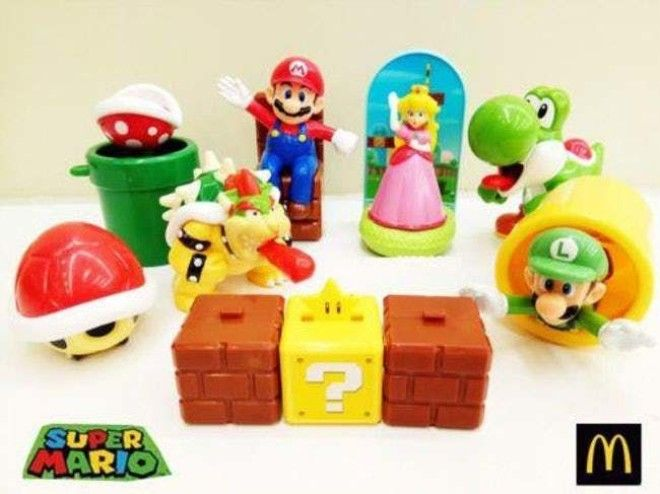 2017's 'Super Mario is listed (or ranked) 5 on the list McDonald's Happy Meal Toys You Threw Away That Are Worth An Insane Amount Of Money Today
