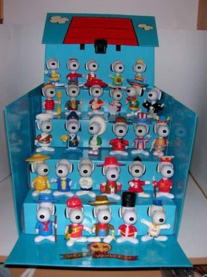 Snoopy World Tour Complete Set is listed (or ranked) 6 on the list McDonald's Happy Meal Toys You Threw Away That Are Worth An Insane Amount Of Money Today