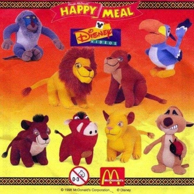 'The Lion King II' Plu is listed (or ranked) 8 on the list McDonald's Happy Meal Toys You Threw Away That Are Worth An Insane Amount Of Money Today